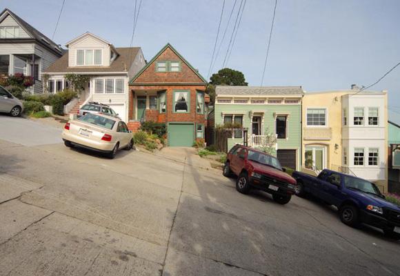 Aparcando en San Francisco en Lombard Street