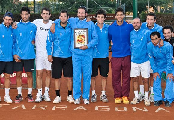 Los tenistas del Club Chamartin, entre los que se encuentra Verdasco