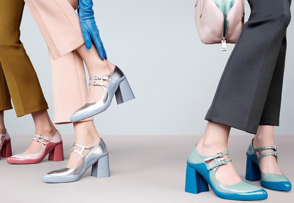 Compra aquí los más exclusivos zapatos de Prada en tono pastel