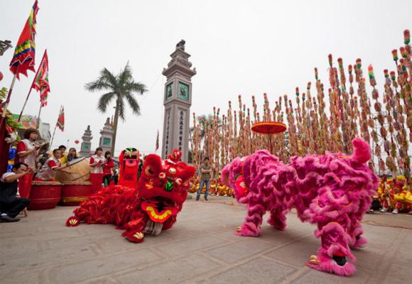 Danza de los leones en el Año Nuevo chino