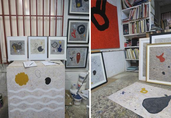 Detalles de su taller de Madrid