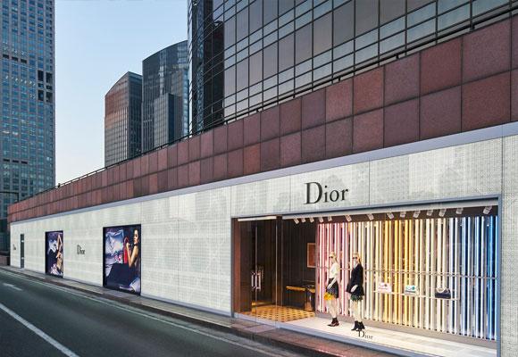 Vista exterior de la nueva flagship de Dior en Beijing