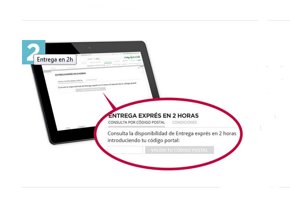 Introduce tu código postal para saber si la entrega express llega a tu casa