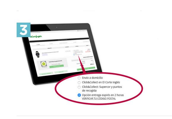 Selecciona la opción 'Entrega en 2 horas', paga y espera en casa a recibirlo. ¡Funciona!
