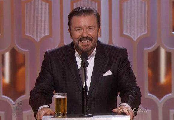 Ricky Gervais presentó la gala por cuarta vez