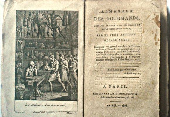 Primer almanaque gastronómico publicado por Grimod de la Reynére