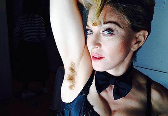 Madonna, como siempre provocativa, luciendo axilas en Instagram