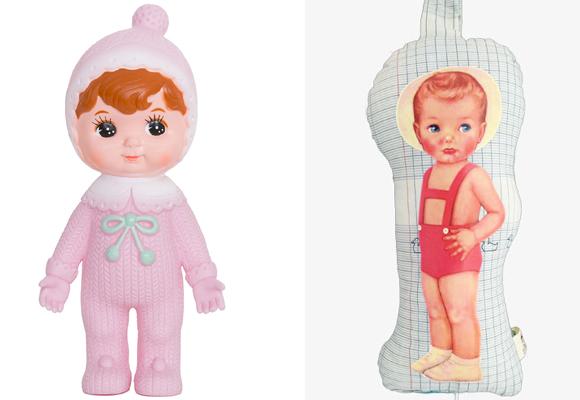 Una muñeca retro y una almohada de otro tiempo. ¡Ideales! Compra aquí