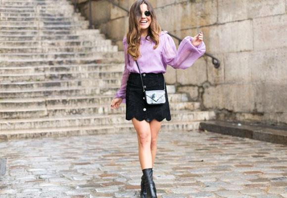 Una prenda que hay que tener: una mini falda de ante