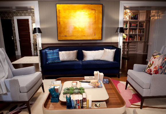 Cada detalle es importante en el salón de la casa de Carrie Bradshaw