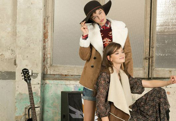 Estilo folk para un invierno más fashion. Aquí puedes comprar este abrigo de borreguito