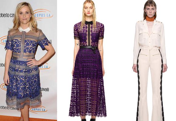 Reese Witherspoon también se apunta a esta firma. Hazte con el vestido de encaje o con estos pantalones con bordados