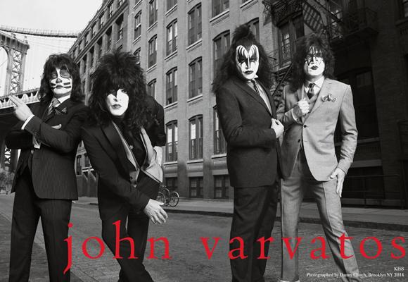 El gupo Kiss protagonizó una de las últimas campañas de Varvatos