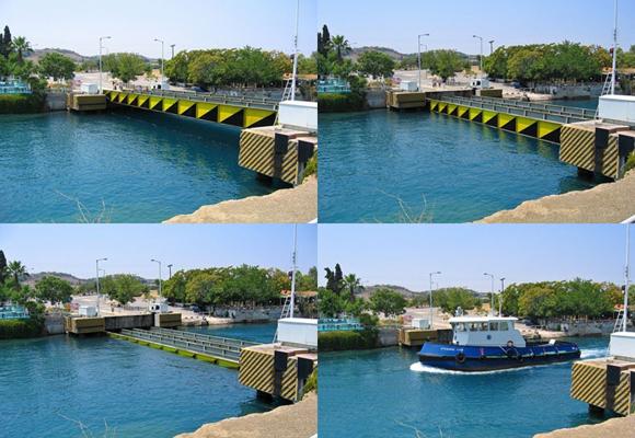 Puentes del Canal de Corintio en Grecia