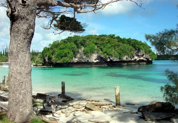 Bahia de Kanumera, una de las más visitadas en Nueva Caledonia