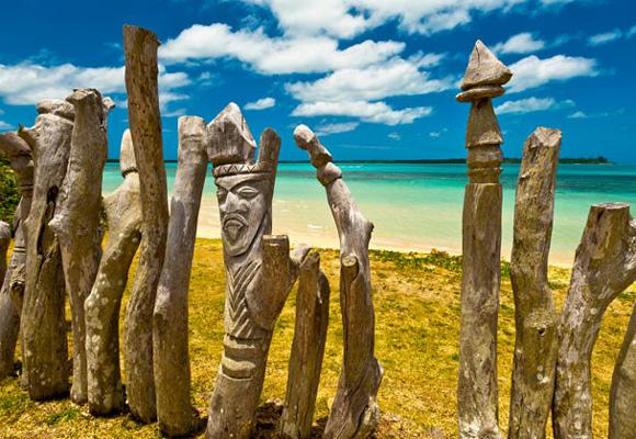 Totem de una de las culturas que se entremezclan en Nueva Caledonia