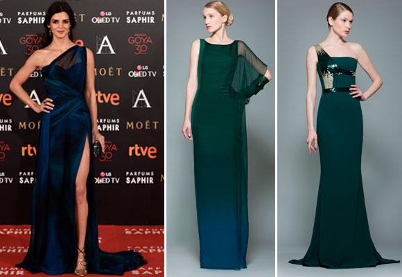 Clara Lago con un diseño de George Chakras y varios modelos de la última colección Ready to Wear