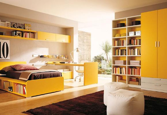 El amarillo es ideal para decorar el cuarto de los peques de la casa