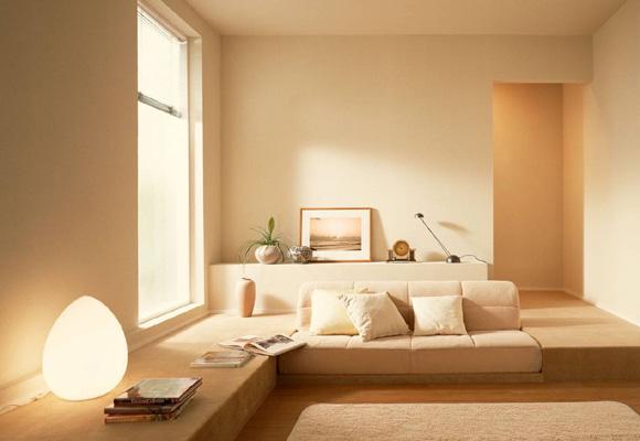 Los tonos crema mejor para zonas comunes de la casa