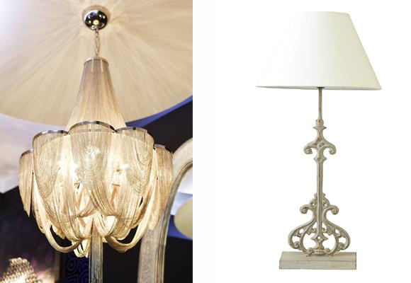 Lámpara (izda) y modelo (derecha)