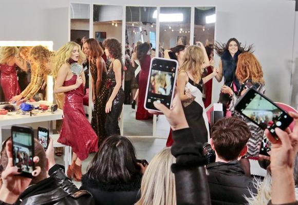 Las modelos en el original show de Diane Von Fürstenberg en NY hace unos días