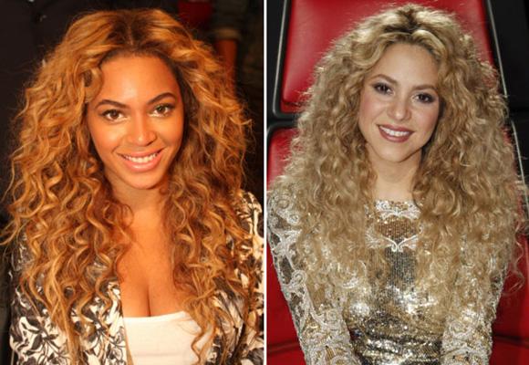 Beyoncé y Shakira también lucen con gracia sus rizos