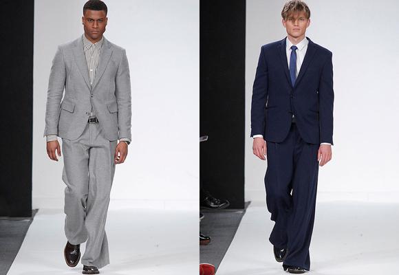 García Madrid impactó con trajes con pantalón ancho. ¿Te atreves a usarlos?