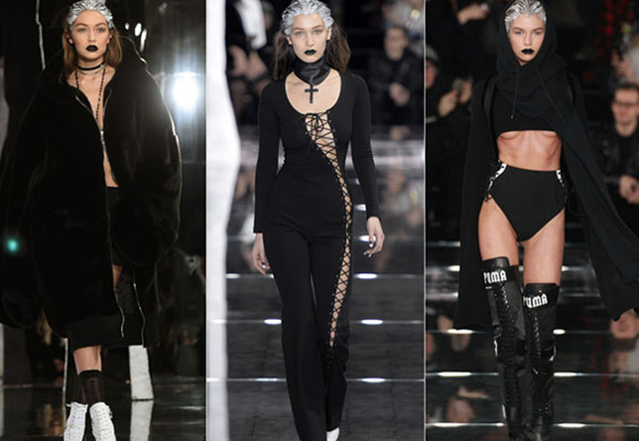 Vestidos, pieles y calzado deportivo en una colección de lux