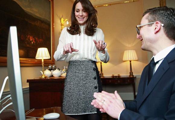 Kate se mostró entusiasmada con su colaboración con el diario británico