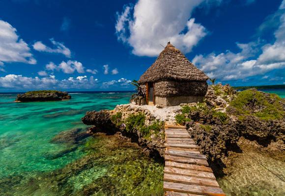 Las cabañas son típicas para vivir al máximo el viaje por esta isla