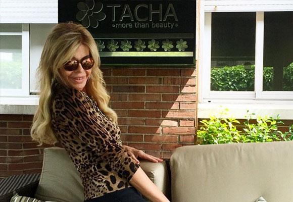 Bibiana Fernández, feliz tras su tratamiento de belleza en Tacha