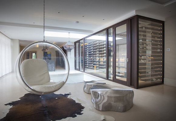 Una de las bodegas diseñadas por Wine At Home
