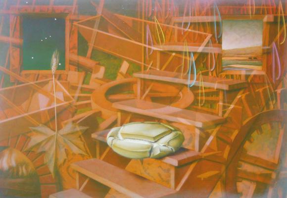 2016 ADOLFO ALVAREZ BARTHE. Danos hoy nuestro pan de cada día. 70X100 cms. Temple sobre tabla