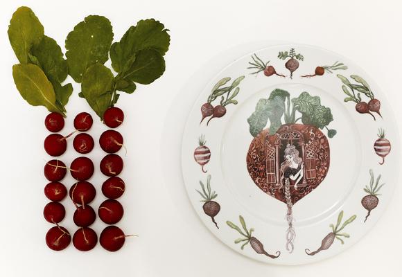 Botánica y cuentos en una colección de porcelana. Compra aquí