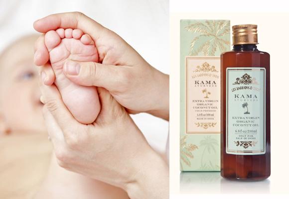 Aceite Kama Ayurveda para masajes a bebés. Compra aquí
