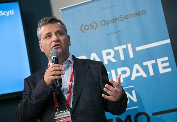 Pere Vallès, CEO de Scytl, durante la presentación de OpenSeneca