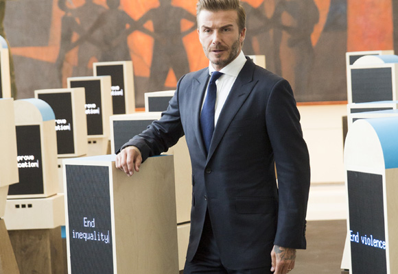 Beckham, perfecto siempre con sus trajes slim fit