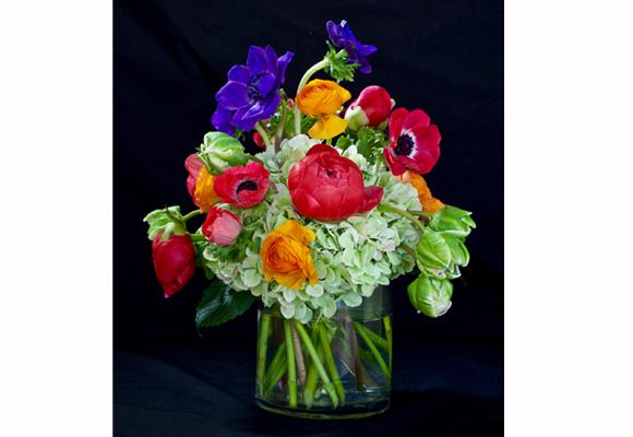 Las flores necesitan hidratarse lo más pronto posible. Ramo de Sylvia el primer y cuarto día