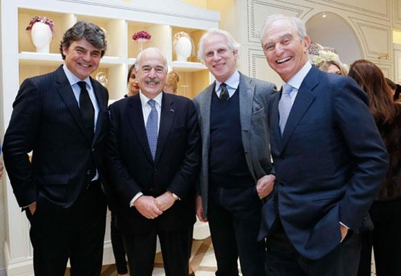 Sr. Pastrana, junto con el Sr. Jorge Moragas (Director del Gabinete de la Presidencia del Gobierno), Giuseppe Tringali (Vicepresidente Mediaset) y Alberto Palatchi (Presidente de Pronovias).