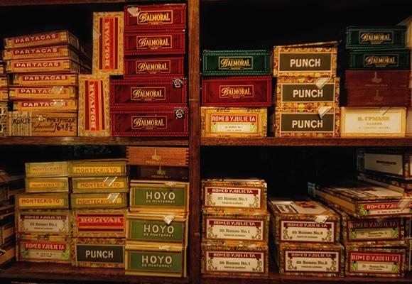 Selección de puros premium y Montecristo