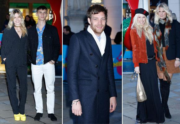 Georgia May Jagger con Josh Ludlow, James Jagger, Theodora y Alexandra Richards en la inauguración en Londres