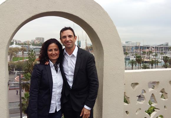 Frédéric Panaïotis e Isabel Chuecos-Ruiz en el Hotel The Serras