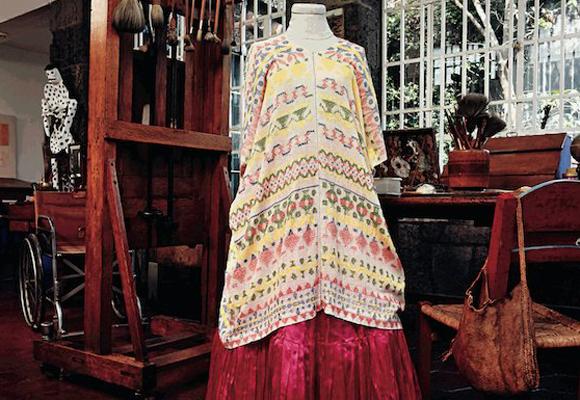 Uno de los vestidos de Frida