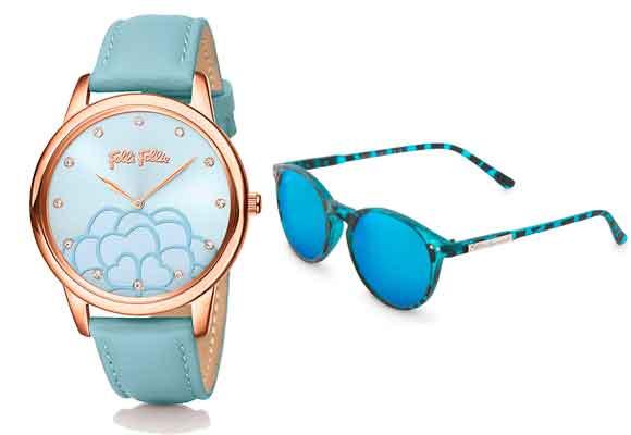 Combina tus complementos y compra aquí este fantástico reloj de Folli Follie y las gafas de