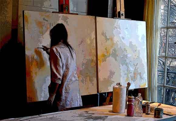 Esther Rosa se decidió por la pintura tras tocar varias disciplinas