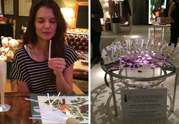 Katie Holmes, una de las famosas fans de la perfumista