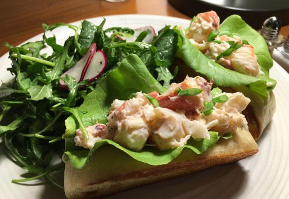 El delicioso Lobster rol. ¡Una exquisitez!