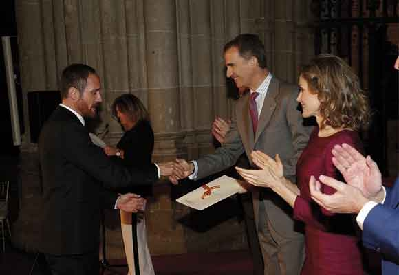 Los reyes entregaron el premio a Josep Font