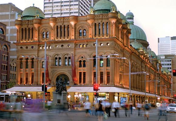 QVB, el centro comercial con la cúpula verde
