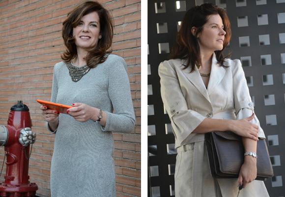 En vestido o con pantalón y chaqueta. Dos mujeres, dos estilos